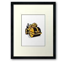 Vintage Road Roller  Retro Framed Print