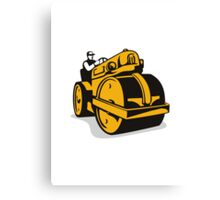 Vintage Road Roller  Retro Canvas Print