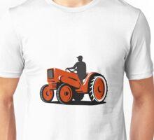 Farmer Driving Vintage Tractor Retro Unisex T-Shirt