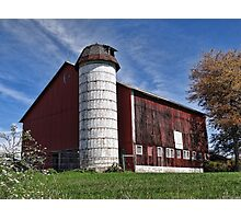 A cool looking barn Photographic Print