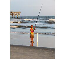 Little Boy Fishing Photographic Print