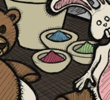 Teddy Bear And Bunny - Lab Experiments Sticker