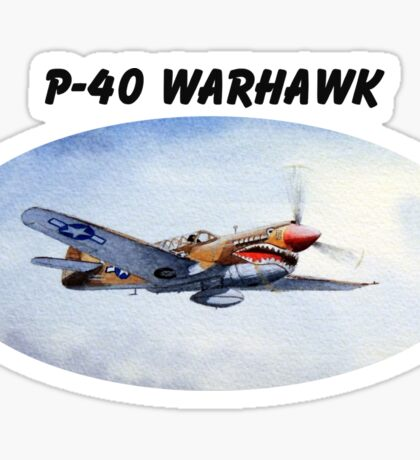 P-40 Warhawk Aircraft Sticker