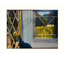 Window-Wheat Art Print