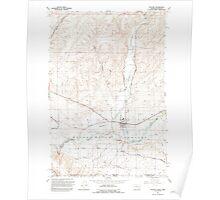 USGS Topo Map Washington State WA Touchet 244325 1991 24000 Poster