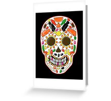 Candy Skull Greeting Card