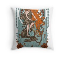 BikeBike Nouveau Throw Pillow