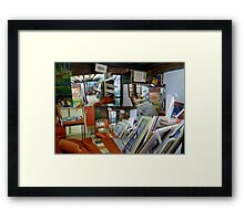 My Playroom Pic just for fun, well not fun putting them back ... Looking somewhere everywhere,  Framed Print