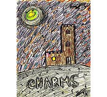 charms castle magic drawing crayon spiral art tia knight  Photographic Print