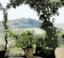 Italian Terrace Landscape (S2915itl) Sticker