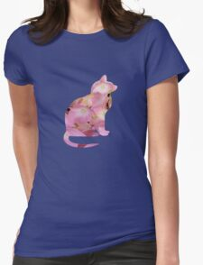 Pink Hydrangea Flower Cat T-Shirt
