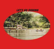 Fishing On Lazy Days Kids Tee