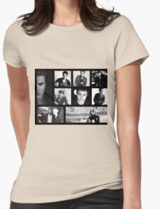 Paul Wesley in Black and White Womens Fitted T-Shirt