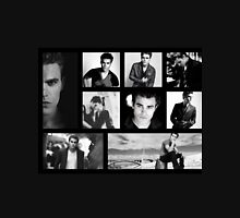 Paul Wesley in Black and White T-Shirt
