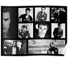 Paul Wesley in Black and White Poster