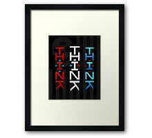 THINK AMERIKA Framed Print