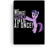 Science Poster Canvas Print