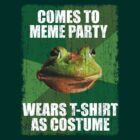 MEME COSTUME PARTY SHIRT - Foul Bachelor Frog by Jay Kristopher Huddy