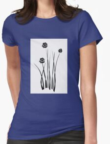 Kathie McCurdy Zen Black & White Flowers T-Shirt