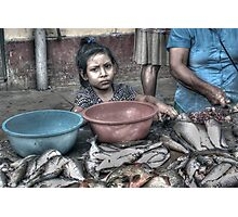 A Fish Market in Nauta, Peru Photographic Print