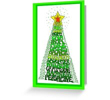 Blessing Tree (with border) Greeting Card