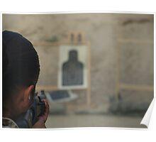 Marine with Shotgun Poster