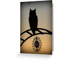 Great Horned Owl ~ Sunset Silhouette  Greeting Card