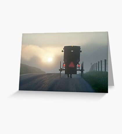 Into the Morning Mist Greeting Card