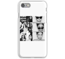 Nina Dobrev in Black and White iPhone Case/Skin