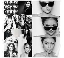 Nina Dobrev in Black and White Poster