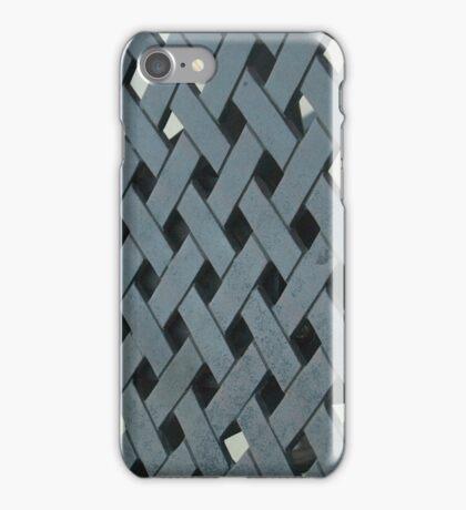 Charcoal Herringbone Texture iPhone Case/Skin