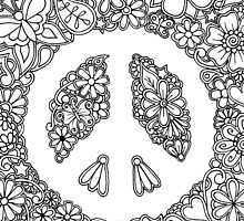 Peace, Love, and Coloring by Tabitha Barnett