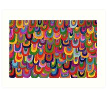 Multicoloured scales Art Print