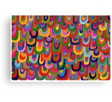 Multicoloured scales Canvas Print