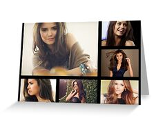 Nina Dobrev is so beautiful  Greeting Card