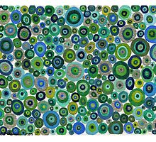 Green circles by Ruth Magnus