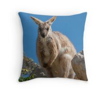 YELLOW-FOOTED ROCK WALLABY Throw Pillow
