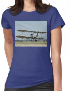 Tiger Moth Take-off @ Melton Air Show 2010 Womens Fitted T-Shirt