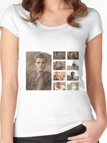Paul Wesley grass photoshoot Women's Fitted Scoop T-Shirt