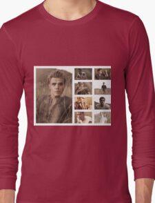 Paul Wesley grass photoshoot Long Sleeve T-Shirt