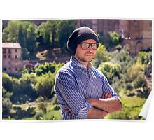 Self Portrait in Siena Poster