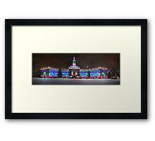 Denver, Colorado Winter Panorama Framed Print