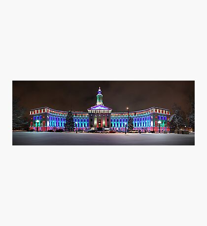 Denver, Colorado Winter Panorama Photographic Print