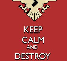 """""""Keep Calm And Destroy The Riders!"""" Shocker Poster 1 by Yujiiro"""