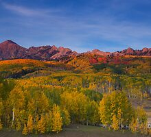 Kebler Pass Fall Sunset by Ryan Wright