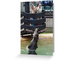 Crocidile Feeding Greeting Card