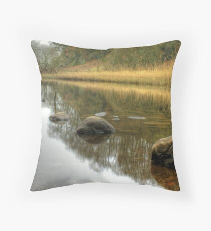The River Brathay in February Throw Pillow