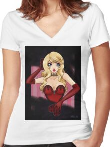 Little Miss Burlesque Women's Fitted V-Neck T-Shirt