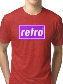 Retro - Purple Tri-blend T-Shirt