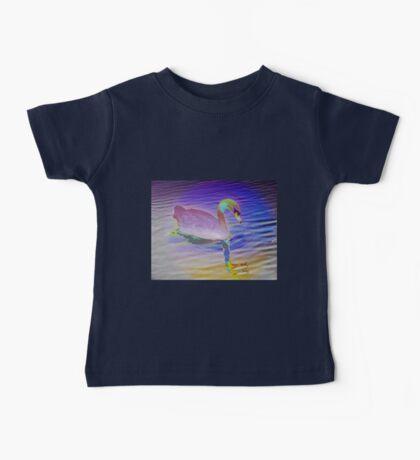 Swan mirror in pastels Baby Tee